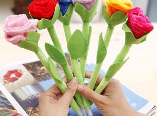 日韩国款文具 可爱 创意 玫瑰花 圆珠笔 礼品笔 C0024,文具,