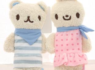 韩版笔袋 爱好3561 可爱 文具 布艺兔子小熊 学生笔袋 卡通毛绒,文具,