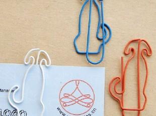 可爱卡通小狗造型回形针 新奇特可爱有趣创意文具 新颖小礼品,文具,