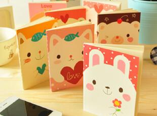 日韩国文具 可爱 创意 萌萌动物 车线本 笔记本 记事本 E0045,文具,