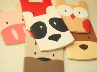韩国可爱动物异性笔记本可爱日记本便签本记事本卡通本子79包邮,文具,