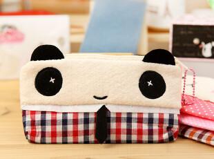 三年二班●韩国文具 清新可爱 创意卡通熊猫与猫笔袋 收纳包 4款,文具,