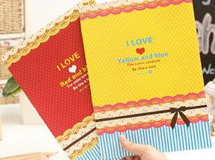 懒角落★日韩国文具 韩版可爱甜美 圆点花边 A4 笔记本 22581,文具,
