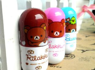 新款创意文具 韩国可爱 轻松熊伸缩 卡通药丸笔/胶囊笔/圆珠笔,文具,