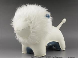 台湾Zuny皮革文具大狮子Tumo书挡书立/玩具 BLLC988T 白蓝,文具,