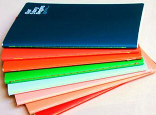 满45包邮】韩国文具 初品A5糖果色纯色笔记本 32k 软抄本 车线本,文具,