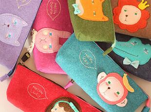 〖迪汉〗韩国文具 可爱动物毛毡笔袋 收纳袋 整理袋 7款选,文具,
