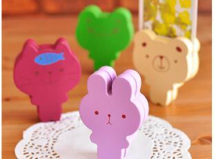 默默爱♥创意家居 可爱彩色 小动物木质留言夹/便签夹/照片夹 4款,文具,