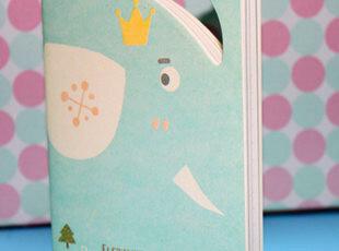 满45包邮】韩国文具 动物造型记事本 笔记本 便签本 大象 熊,文具,