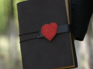 Little Love HG手工本子活页本牛皮本子欧式复古本子真皮记事本,文具,