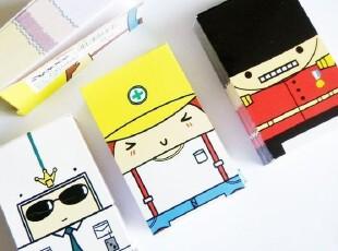 AP玩创意★韩国文具 可爱 卡通人便条/机器人便条/便签,文具,