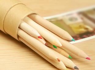 幸福市集★日韩创意文具 12彩色小铅笔 绘画笔/美术勾线笔 卷笔刀,文具,