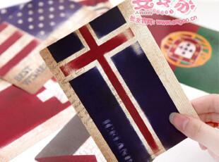 安安家♥日韩国文具 韩版 复古国旗 大款 明信片/卡片/贺卡 E310,文具,