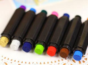 生活糖果 48包邮 创意文具 双头双色彩色印泥/印泥笔 DIY印章伴侣,文具,