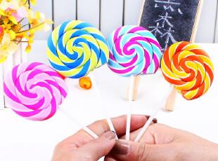 黑森林★韩国文具 创意逼真 甜美彩色 棒棒糖造型 橡皮擦 D44,文具,