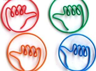 独特新款创意大拇指造型回形针 韩国创意小文具 别致新颖回形针,文具,