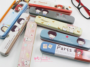 韩国创意卡通家居 可爱卡通 笔盒 铅笔盒|文具盒|餐具盒 随机,文具,