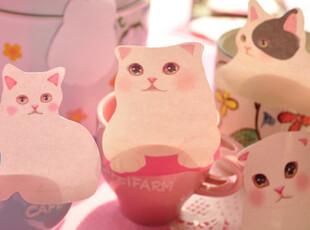 三年二班●韩国文具|可爱猫咪 N次贴|随意贴|便利贴 款式随机,文具,