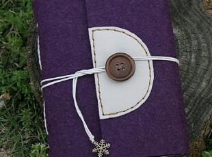 play紫 肉色HG羊毛毡手工本子 欧式线装创意笔记本记事本原创笔袋,文具,
