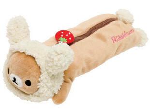 UMI韩国创意小清新可爱毛绒轻松熊大容量笔袋 文具袋 收纳袋,文具,
