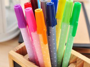 生活糖果 48包邮 创意文具 可爱果冻彩色中性笔 彩色水笔 12色,文具,