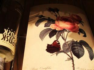 复古花卉 A4卡片 装饰画 6张套装,文具,
