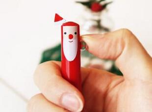 韩国进口|卡通双色圆珠笔|santa(圣诞老人)黑色+红色笔芯,文具,