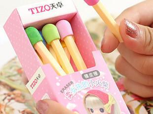 新款 可爱创意橡皮 卖火柴的小女孩 卡通 学生橡皮擦,文具,