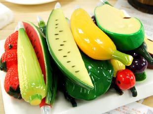 韩国可爱文具 逼真创意水果蔬菜圆珠笔卡通笔可爱笔1778带磁铁,文具,