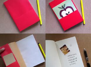 多纸巷/红色空白内页涂鸦本 记事本日记本笔记本速写本绘画本定制,文具,