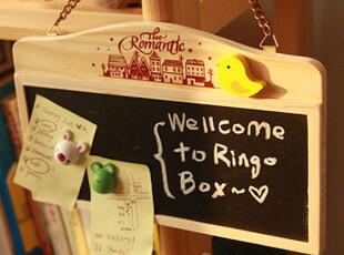 韩版木质双面链条黑白板 双面小黑板/白板/留言板 可爱磁吸,文具,
