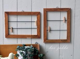 Bao ZAKKA 日单 旧木 丝印 壁挂 小画框留言板 便签 相片夹 2款选,文具,