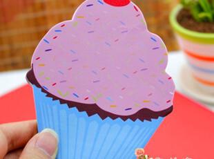 满45包邮】韩国文具 仿真美味甜点造型 便签本 留言贴蛋糕N次贴,文具,