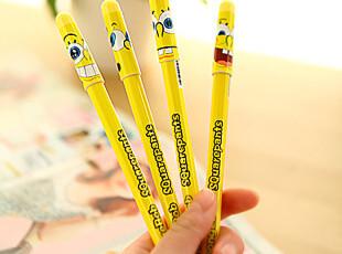 日韩国款文具 可爱 卡通 海绵宝宝 中性笔 水笔 B0029,文具,