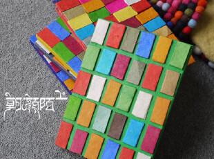 尼泊尔多彩纯手工纸笔记本 记事本 蚊香片,文具,