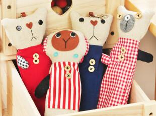 三年二班●韩国文具 可爱布偶 萌萌动物 拼布笔袋 帆布袋学生笔袋,文具,