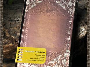 古典欧式哥特 维特的留恋 经典复古硬皮圆背 工艺笔记本,文具,
