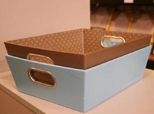Ids'复古风格纸质纯色文件盘 收纳桶 文具 整理盒 杂物盒 办公,文具,