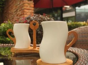 时尚白瓷情侣咖啡套杯 情侣对杯 简约创意情侣杯 七夕情人节礼物,杯子,