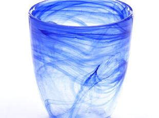 意大利原装进口 纯净梦幻蓝彩云 水晶玻璃 水杯威士忌杯 限量,杯子,