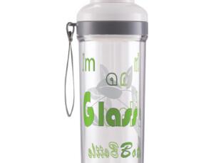 【N66861C22】居元素品牌 水晶芯 玻璃 双层 随身杯 我是玻璃,杯子,