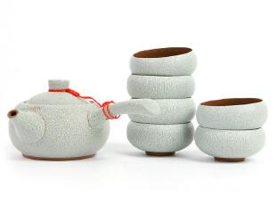 【正品包邮】威尔美斯 高档茶具套装青色珍珠釉茶具六杯一壶,杯子,