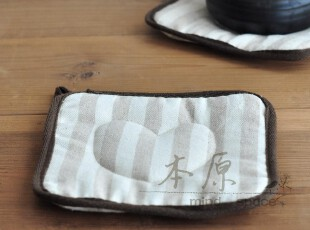 本原 条纹亚麻杯垫 水杯垫 壶垫 锅垫 餐桌垫 隔热垫 碗垫田园,杯子,