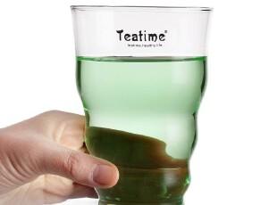 teatime透明杯子 耐高温水杯 果汁杯 创意玻璃杯 可微波牛奶杯,杯子,