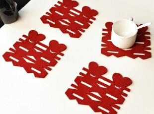 逸点家纺 新品喜字 镂空 杯垫|锅垫|餐垫|桌垫|隔热杯垫 15*15,杯子,