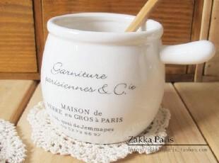 zakka杂货 迷你带把手奶壶 陶瓷 布丁杯 牛奶杯 多肉花盆,杯子,