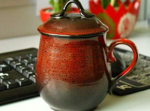 唐丰  办公杯 水杯 茶杯 陶瓷带盖办公杯 独特天目釉 老板杯 包邮,杯子,