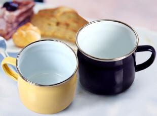 欧润哲 儿童搪瓷杯子 复古早餐杯日本小号马克杯 创意水杯咖啡杯,杯子,