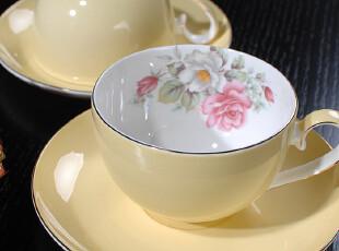 欧式田园骨瓷内壁印花早餐杯/咖啡杯/麦片/奶茶/情侣杯/双杯碗,杯子,