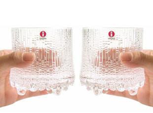 芬兰Iittala Ultima Thule 极冻透明大威士忌酒杯对杯 280ml,杯子,